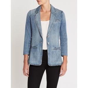 NWT Current Elliott Highball Denim Blazer Jacket